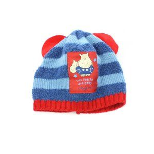 CLAYEUX Blue & Red Striped Knit Cap Toddler's 6